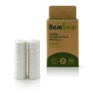 ecomama - filo interdentale vegano in mais - bambaw