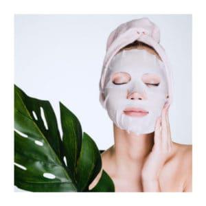 Maschera viso in seta naturale effetto antiossidante intenso di Therine. ecomama