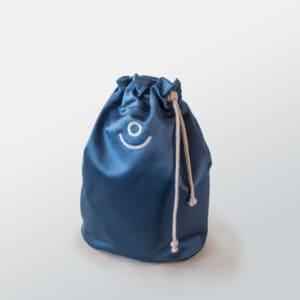 sacca pochette blu ecomama
