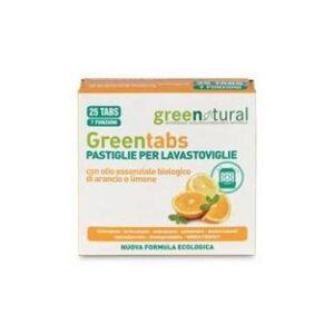 Pastiglie per lavastoviglie all'olio essenziale di arancia e limone, di greenatural. Ecomama