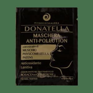 Donatella, maschera viso anti-inquinamento di mysezione aurea. Ecomama