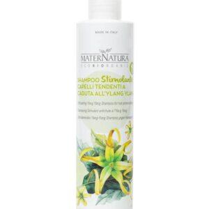 shampoo stimolante anticaduta all'ylang ylang di maternatura. Ecomama