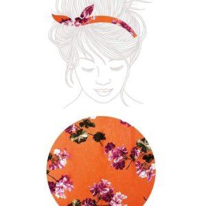 Bandeau Primavera - Fantasia Floreale su base arancione di maternatura