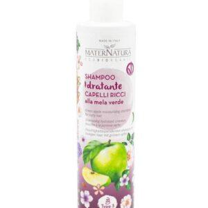 Shampoo Idratante Capelli Ricci alla Mela Verde di maternatura.
